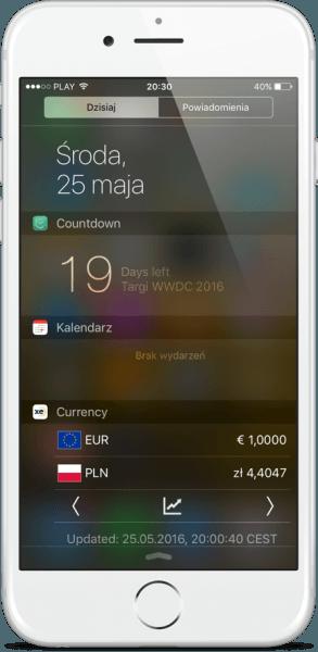 5. Podziwiamy widget w pełnej okazałości!