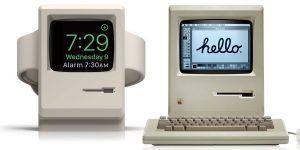 Stacja dokująca do Apple Watch w kształcie Macintosha
