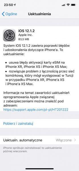 Aktualizacja iOS przyspiesza iPhone'a