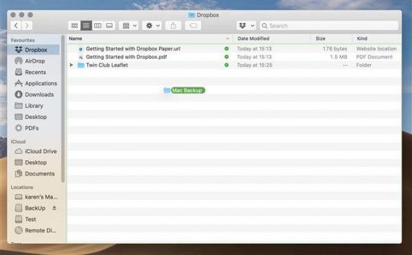Backup Mac Dropbox