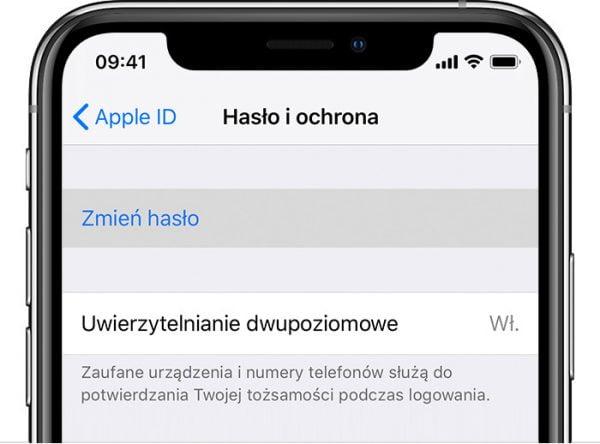 Zmiana Apple ID
