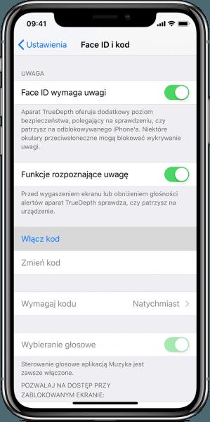 Ustawianie blokady iPhone