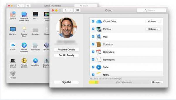 iCloud MacOS backup