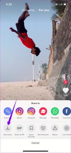 Jak ściągnąć film z TikTok na iPhone