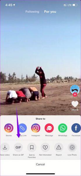 Jak przesłać film z TikTok na iPhone
