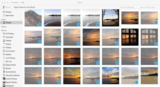 Import zdjęć Mac