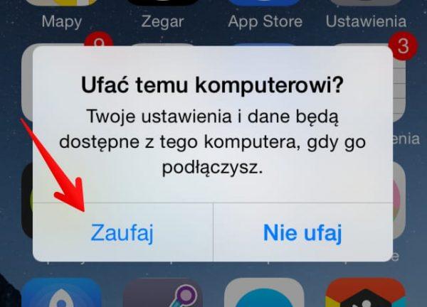 Przesyłanie zdjęć z iPhone na PC