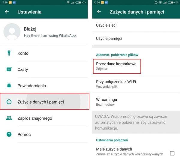 Jak sprawdzić zużycie pamięci WhattsApp