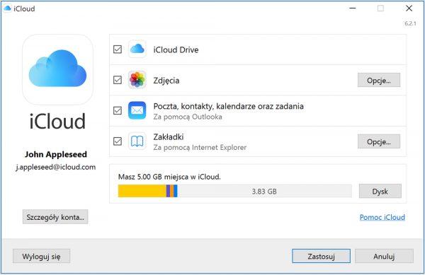 iCloud dla Windows 10