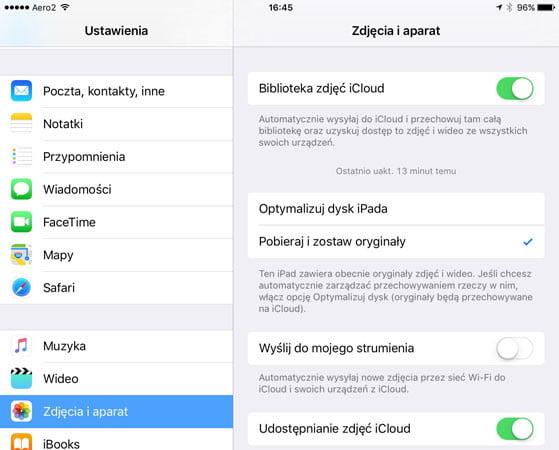 Synchronizacja Mac z iCloud