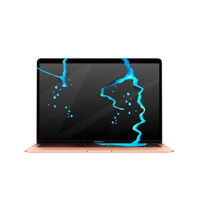 Zalany MacBook Air